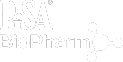 white pisa biopharm logo - 150mL